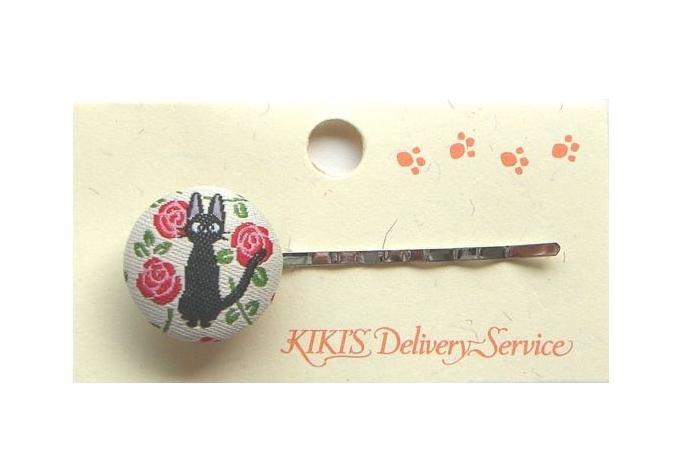 Ghibli - Kiki's Delivery Service - Jiji - Hair Pin - Ornament - weaved design - rose - 2008 (new)