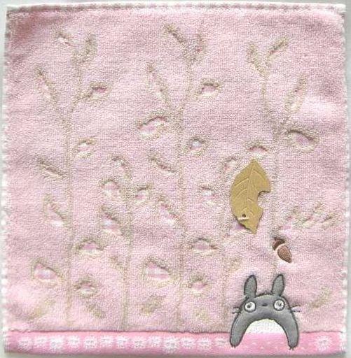 Ghibli - Totoro - Mini Towel - Totoro Applique & Acorn Embroidered - acorn - pink - 2008 (new)