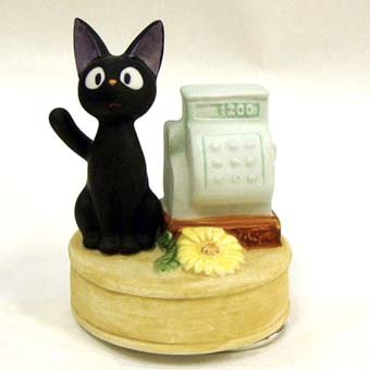 Music Box - Rotary - Porcelain - Jiji & Cash Register- Kiki's Delivery Service - Ghibli -2008 (new)