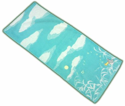 Ghibli - Totoro - Face Towel - Embroidered - sky - light blue - 2007 (new)