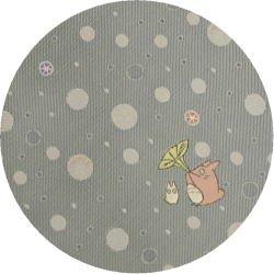 Ghibli - Chu & Sho Totoro - Necktie - Silk - Jacquard - bubble -light gray-made in Japan-2008(new)