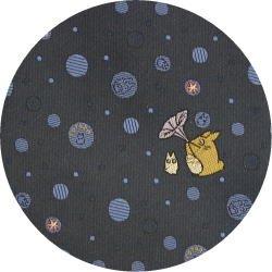Ghibli - Chu & Sho Totoro - Necktie - Silk - Jacquard - bubble - navy - made in Japan - 2008 (new)