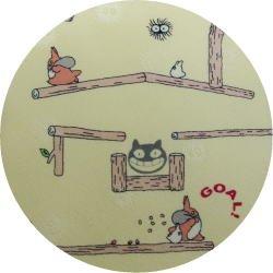 Ghibli - Chu & Sho Totoro - Necktie - Silk - maze - cream - made in Japan - 2008 (new)