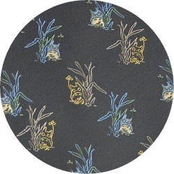 Ghibli - Chu & Sho Totoro - Necktie - Silk - Jacquard - peek - navy - made in Japan - 2008 (new)