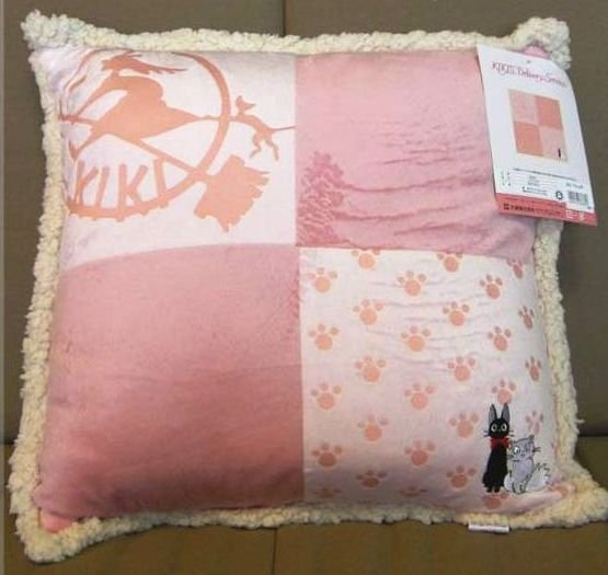 Cushion - 45x45cm - Jiji & Lily - Kiki's Delivery Service - Ghibli - 2008 (new)