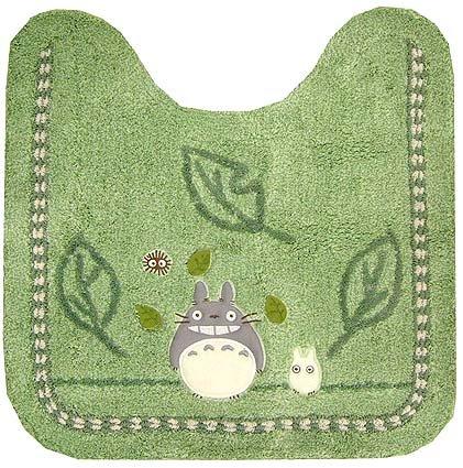 Toilet Mat - Applique - green - Totoro & Sho Totoro & Kurosuke - Ghibli - 2008 (new)
