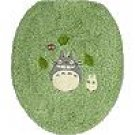Toilet Lid Cover - regular - green - Totoro & Sho Totoro & Kurosuke - Ghibli - 2008 (new)