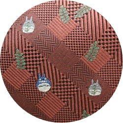 Ghibli - Totoro - Necktie - Silk - Jacquard Weaving - check - crimson - made in Japan - 2008 (new)