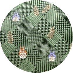Ghibli - Totoro - Necktie - Silk - Jacquard Weaving - check - green- made in Japan - 2008 (new)