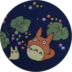 Ghibli - Chu & Sho Totoro - Necktie - Silk - print - navy - made in Japan - 2008 (new)