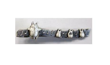 Tiepin in Case - Silver - note - Totoro & Sho Totoro - Ghibli (new)