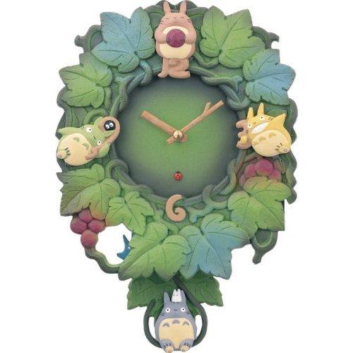 25% OFF - Wall Clock - Quartz Citizen - Totoro & Chu & Sho Totoro Pendulum - Ghibli (new)