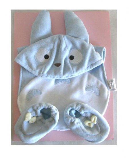 Cap & Baby Bib & Shoes - 3 items - Baby Gift Set - Chu Totoro - Ghibli - Sun Arrow - 2009 (new)