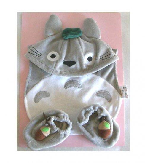 Cap & Baby Bib & Shoes - 3 items - Baby Gift Set - Totoro - Ghibli - Sun Arrow - 2009 (new)