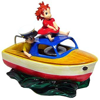 SOLD - Figure Container - Ponyo Girl & Sousuke & Ponponsen - 2008 - out of production (new)