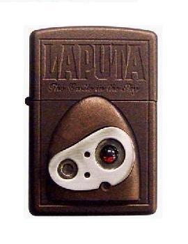 2 left - Zippo - Robot Face - Natural Stone Garnet - Wooden Case - Laputa 2009 no production (new)