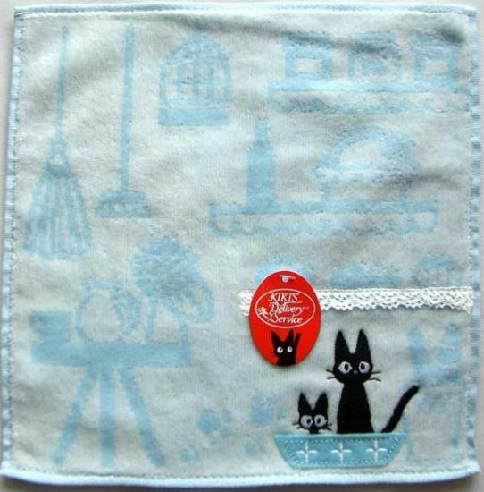 Ghibli - Kiki's Delivery Service - Mini Towel - Jiji Embroidered - blue - 2009 (new)