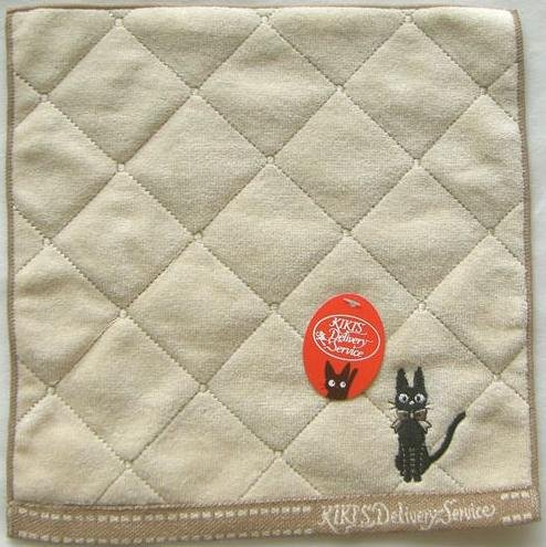 Ghibli - Kiki's Delivery Service - Mini Towel - Jiji with Ribbon Embroidered - brown - 2009 (new)