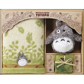 Towel Gift Set - Mini Towel & Face Towel & Plush Doll - Totoro - Ghibli - 2009 (new)