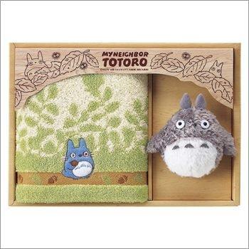 Towel Gift Set - Hand Towel & Mascot - Totoro - Ghibli - 2009 (new)