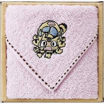 Towel Gift Set - Mini Towel - Nekobus Embroidered - pink - Totoro - 2009 (new)