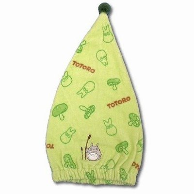 Ghibli - Totoro - Cap Towel - Embroidered - green - 2008 (new)