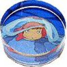 RARE - Rubber Stamp - Made in JAPAN - Acrylic Handle - Ponyo under Jellyfish Ghibli 2008 no product