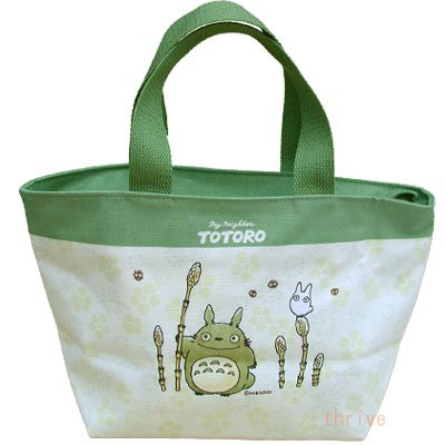 SOLD - Lunch Bento Box Bag - Totoro & Sho & Kurosuke -out of production (new)