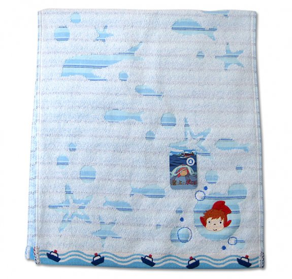 Face Towel - Embroidered & Applique - Ponyo - made in Japan - 2009 (new)