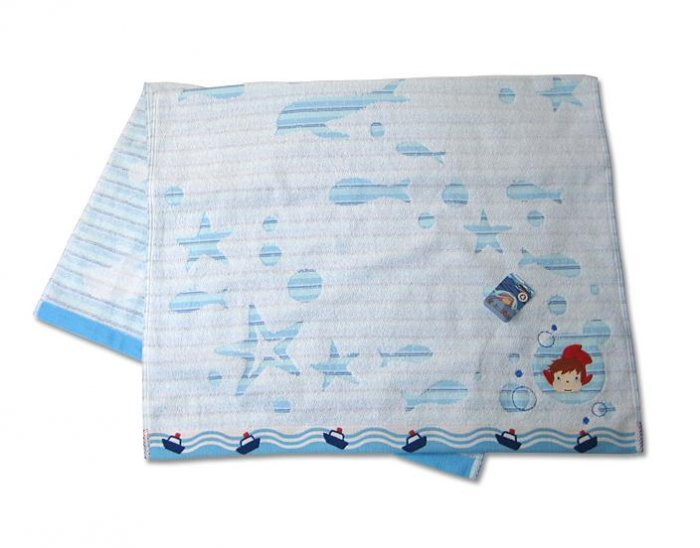 Bath Towel - Embroidered & Applique -�Ponyo - made in Japan -�2009�(new)