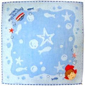Mini Towel - Ponyo Applique & Ponponsen Embroidered - Ghibli - 2009 (new)