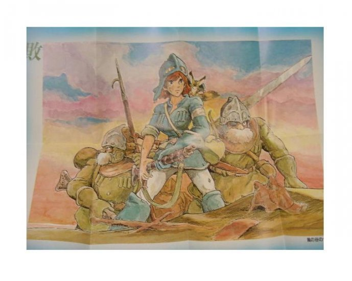 SOLD - Poster - 41.5x59cm - came in Animage - Nausicaa - Ghibli - outofproduction-RARE(new)