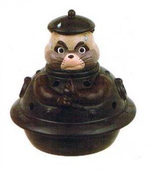 1 left- Insence & Tealight & Mosquito Coil Holder - Ceramics - Tanuki Ponpoko / Pom Poko -2009(new)