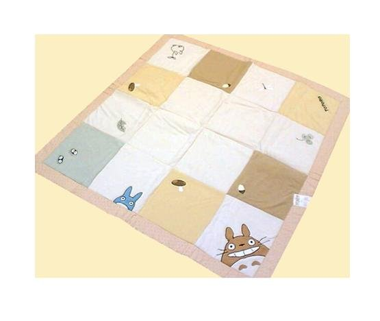 Thick Blanket -185x185cm- Totoro & Chu & Sho & Kurosuke - Ghibli - outproduction- SOLD (new)