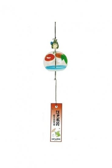 Wind Chime - Glass - handmade in Japan - morning glory - Totoro - Ghibli - out of production (new)