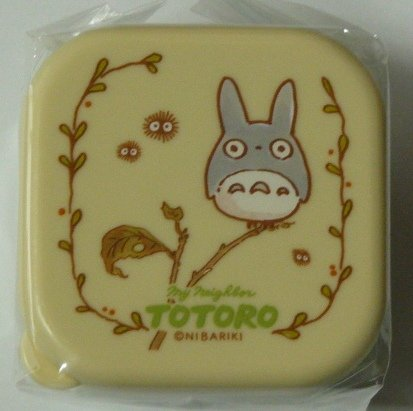 SOLD- 1 Bento Lunch Box / Tupperware -Chu Totoro & Kurosuke - Ghibli -madeJapan-outproduction(new)