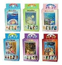 10%OFF- 6 Playing Cards - Totoro Ponyo Kiki's Laputa Mononoke Spirited Away - Ghibli -2009(new)