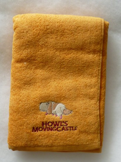 SOLD OUT - Bath Towel - Heen Embroidered - Howl's Moving Castle - Ghibli - out of production (new)