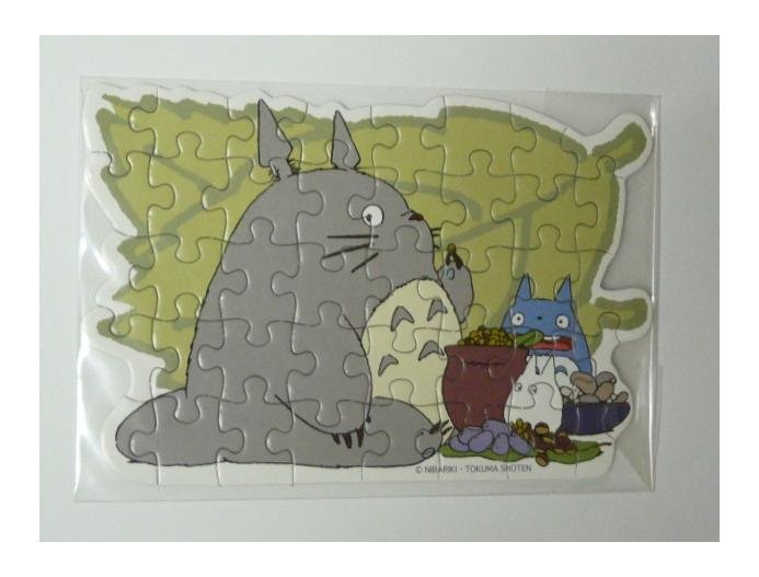 SOLD - Letter Jigsaw Puzzle & Mini Card & Envelope - meal - Totoro -outofproduction(new)