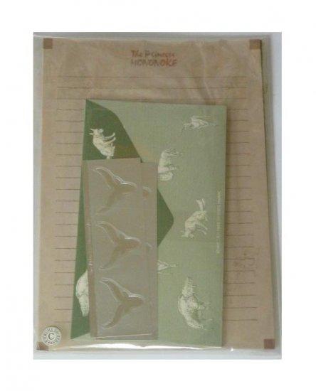 SOLD - Letter Set - Yakkuru Sticker - San & Inugami - Mononoke - Ghibli - no production (new)