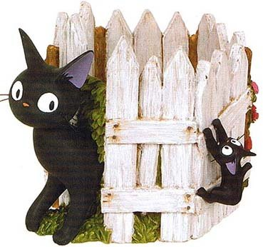 Planter Pot - Fence - Jiji & Kid - Kiki's Delivery Service - Ghibli - 2009 (new)