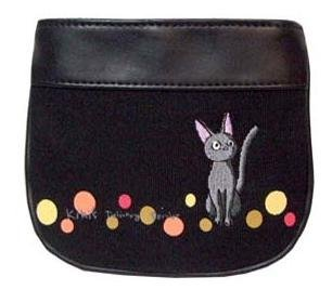 2 left - Pouch - Jiji Embroidered - black - Kiki's Delivery Service - out of production (new)