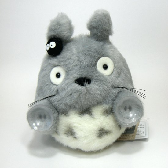 Plush Doll with Sucking Disc - Totoro & Kurosuke - Ghibli - Sun Arrow (new)