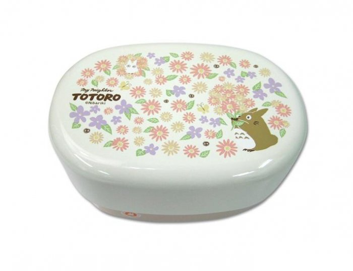 2 Tier Lunch Bento Box & Belt - made in Japan - Totoro & Flower - Ghibli - 2009 (new)