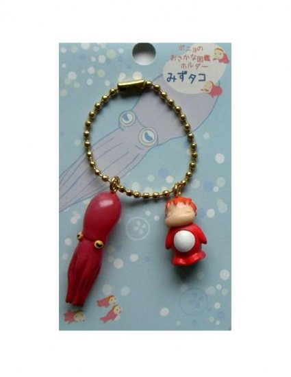 Chain Strap Holder - Ponyo & Octopus - Gake no Ue no Ponyo - Ghibli - 2009 - no production (new)