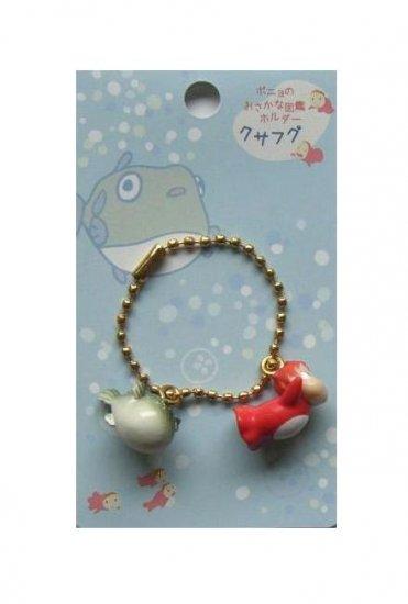 Chain Strap Holder - Ponyo & Globefish - Gake no Ue no Ponyo - Ghibli - 2009 - no production (new)