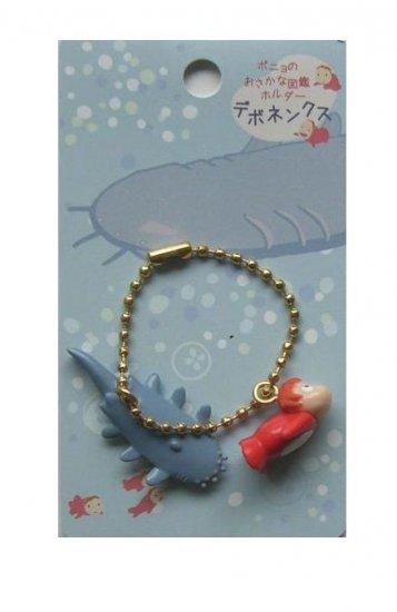 Chain Strap Holder - Ponyo & Fish - Gake no Ue no Ponyo - Ghibli - 2009 - no production (new)