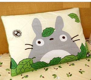 SOLD - Pillow Case - 43x63cm - Totoro & Sho Totoro & Kurosuke - Ghibli - no production (new)