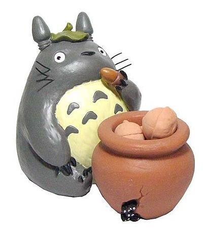 3 left - Figure & Pot - 5 Unglazed Acron - Soak Fragrance - Totoro - Ghibli - no production (new)