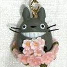 Strap Holder - Cherry Blossom / Sakura - spring - Totoro - Ghibli - 2009 - no production (new)